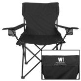 Deluxe Black Captains Chair-Vertical Logo