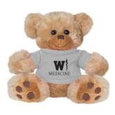Plush Big Paw 8 1/2 inch Brown Bear w/Grey Shirt-W Medicine
