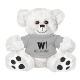 Plush Big Paw 8 1/2 inch White Bear w/Grey Shirt-W Medicine