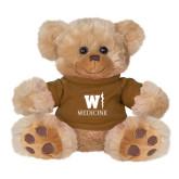 Plush Big Paw 8 1/2 inch Brown Bear w/Brown Shirt-W Medicine