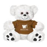 Plush Big Paw 8 1/2 inch White Bear w/Brown Shirt-W Medicine