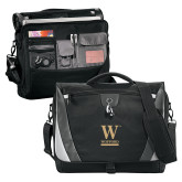 Slope Black/Grey Compu Messenger Bag-W Wofford