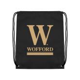 Black Drawstring Backpack-W Wofford