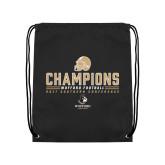 Black Drawstring Backpack-2017 Football Champions