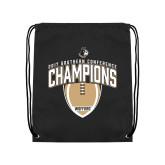 Black Drawstring Backpack-2017 Football Champions Vertical Football