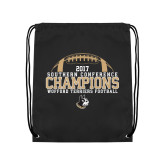 Black Drawstring Backpack-2017 Football Champions - Football