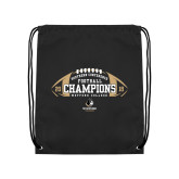 Black Drawstring Backpack-2018 SoCon Football Champions