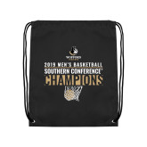 Black Drawstring Backpack-2019 Mens Basketball Champions