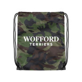 Nylon Camo Drawstring Backpack-Wofford Terriers Word Mark