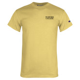 Champion Vegas Gold T Shirt-Wofford College Stacked