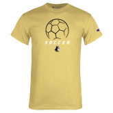 Champion Vegas Gold T Shirt-Wofford Soccer Stacked