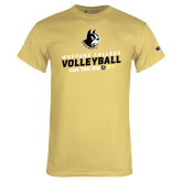 Champion Vegas Gold T Shirt-Wofford College Volleyball Can You Dig It