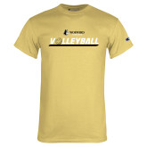 Champion Vegas Gold T Shirt-Wofford Terriers Volleyball w/ Volleyball