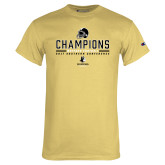 Champion Vegas Gold T Shirt-2017 Football Champions