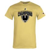 Champion Vegas Gold T Shirt-2017 Football Champions Vertical Football