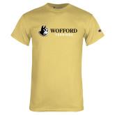 Champion Vegas Gold T Shirt-Wofford Terriers w/ Terrier Flat