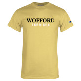 Champion Vegas Gold T Shirt-Wofford Terriers Word Mark