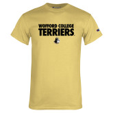 Champion Vegas Gold T Shirt-Wofford College Terriers Stacked
