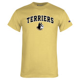 Champion Vegas Gold T Shirt-Terriers Arched w/ Terrier