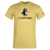 Champion Vegas Gold T Shirt-Wofford Terriers w/ Terrier Distressed