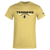 Champion Vegas Gold T Shirt-Terriers Football Flat w/ Football