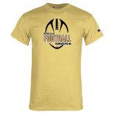 Champion Vegas Gold T Shirt-Wofford College Football w/ Football