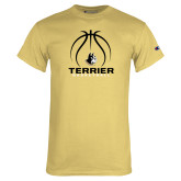 Champion Vegas Gold T Shirt-Terrier Basketball w/ Contour Lines