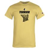 Champion Vegas Gold T Shirt-Terrier Basketball w/ Net