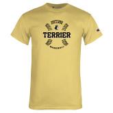 Champion Vegas Gold T Shirt-Wofford College Terrier Baseball w/Seams