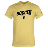 Champion Vegas Gold T Shirt-Wofford Soccer Slanted