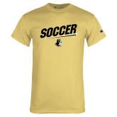 Champion Vegas Gold T Shirt-Wofford Soccer Slanted