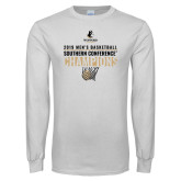 White Long Sleeve T Shirt-2019 Mens Basketball Champions