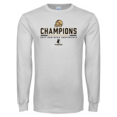 White Long Sleeve T Shirt-2017 Football Champions