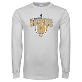White Long Sleeve T Shirt-2017 Football Champions Vertical Football