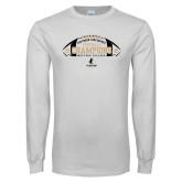 White Long Sleeve T Shirt-2018 SoCon Football Champions