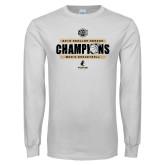 White Long Sleeve T Shirt-2019 Mens Regular Season Basketball Champions