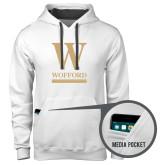 Contemporary Sofspun White Hoodie-W Wofford