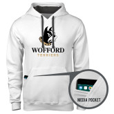 Contemporary Sofspun White Hoodie-Wofford Terriers w/ Terrier