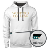Contemporary Sofspun White Hoodie-Wofford College Stacked