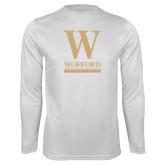 Performance White Longsleeve Shirt-W Wofford