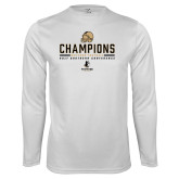 Performance White Longsleeve Shirt-2017 Football Champions