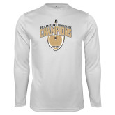 Syntrel Performance White Longsleeve Shirt-2017 Football Champions Vertical Football