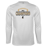 Performance White Longsleeve Shirt-2017 Football Champions - Football
