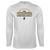 Syntrel Performance White Longsleeve Shirt-2017 Football Champions - Football