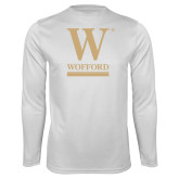 Performance White Longsleeve Shirt-W Wofford