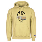 Champion Vegas Gold Fleece Hoodie-Wofford College Football w/ Football