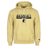 Champion Vegas Gold Fleece Hoodie-Wofford College Baseball Stencil w/Bar