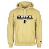 Champion Vegas Gold Fleece Hoodie-Wofford College Baseball Stencil w/Bar