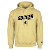 Champion Vegas Gold Fleece Hoodie-Wofford Soccer Slanted