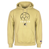 Champion Vegas Gold Fleece Hoodie-Wofford Soccer Stacked